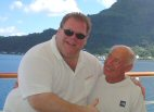 Robby Leblanc and Werner Berger in Tahiti