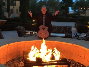 Guitarist Robby LeBlanc Getting Ready To Play At The Hilton at Lake Las Vegas